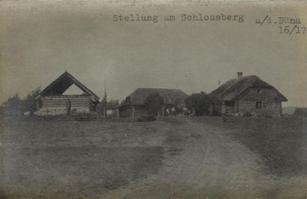 Vācu pozīcijas pie Daugavas Pilskalnē (Schlosberg)1916./1917.gadā