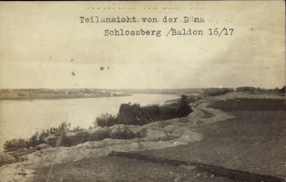 Vācu pozīcijas Pie Daugavas Pilskalnē, I pasaules kara laika vācu ierakumi, M.Bergera foto