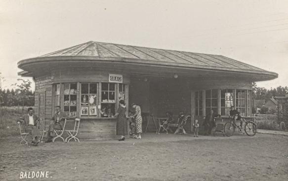 Veikaliņš Baldonē 30.gadu foto